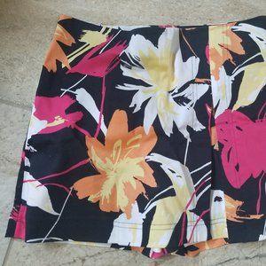 Cache tropical print floral skort/shorts size 4